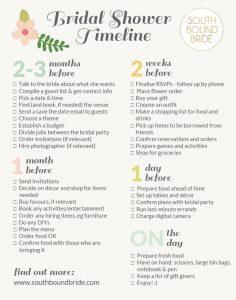 Printable Bridal Shower Timeline