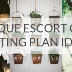 25 Unique Escort Card & Seating Plan Ideas