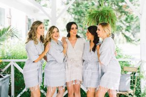 bridesmaid patterned robes for getting ready