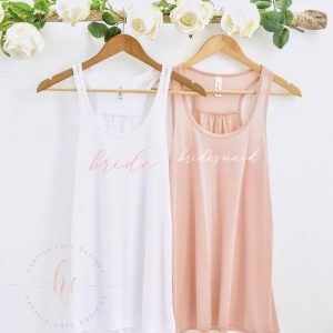 bridesmaid tank tops for getting ready