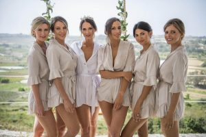 bridesmaid rompers for getting ready