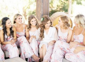 bridesmaid pajamas for getting ready