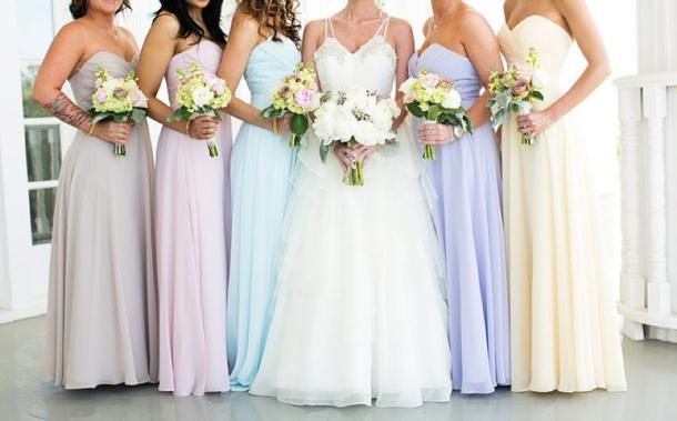 Southboundbride pastel wedding groomsmen 001 southbound for Pastel color dress for wedding