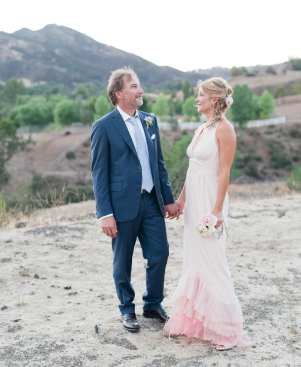 blush pink ombre wedding dress