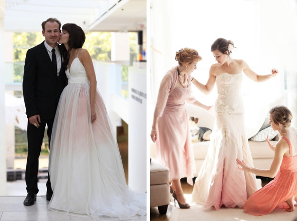 Dip Dye & Ombre Wedding Dresses