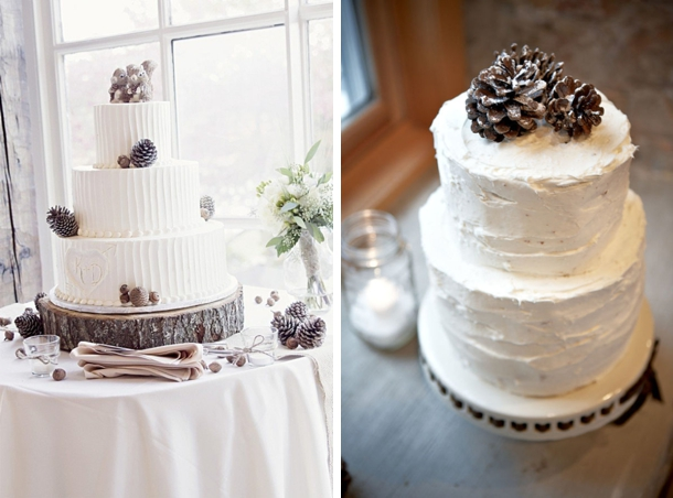 15 Rustic Winter Wedding Cakes | SouthBound Bride