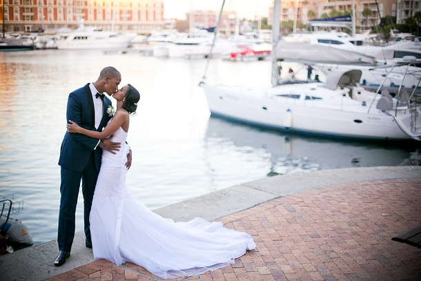 Today S Wedding Is All About Modern Elegance And Simplicity Against The Breathtaking Backdrop Of V A Waterfront In Cape Town Salubona Olivia