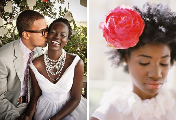 Black Natural Hairstyles For A Wedding : Black natural wedding hair inspiration