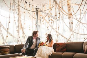 hanging yarn macrame garlands wedding décor