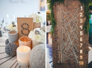 string art wedding table number and table plan