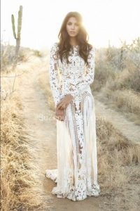 nude lace wedding dresses