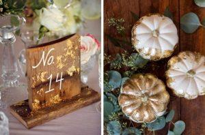 gold leaf table décor