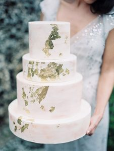 gold leaf luxury wedding cakes