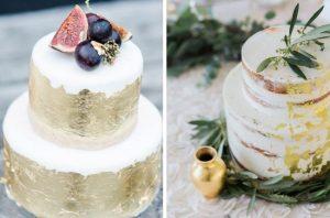gold leaf wedding ideas