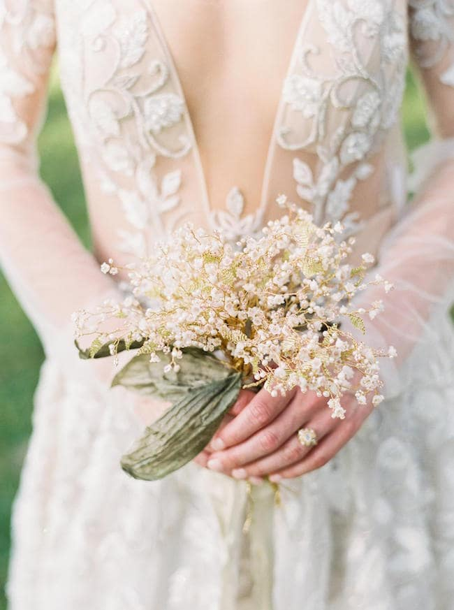 lily of the valley fake wedding flowers