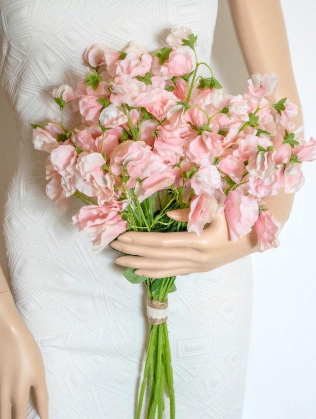 sweet pea fake wedding flowers