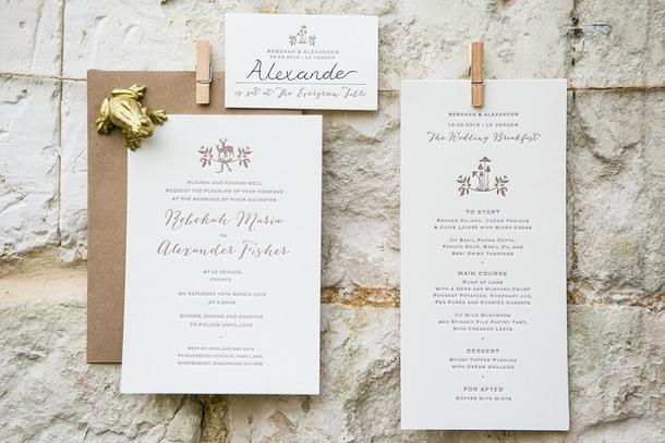 Whimsical Woodland Wedding Invitation | Credit: Anneli Marinovich (22)