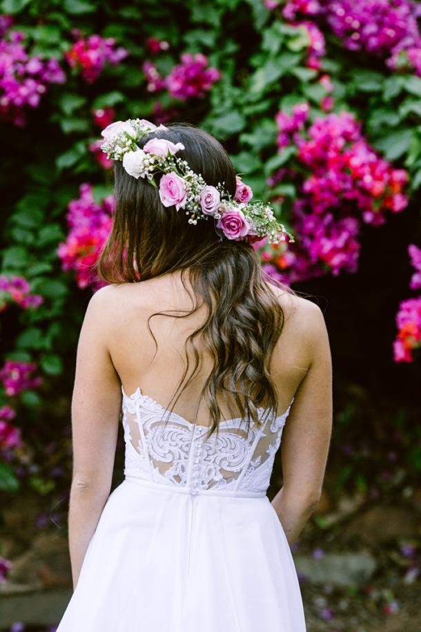 Lace Back Wedding Dress by Julia Ferrandi | Credit: Lad & Lass