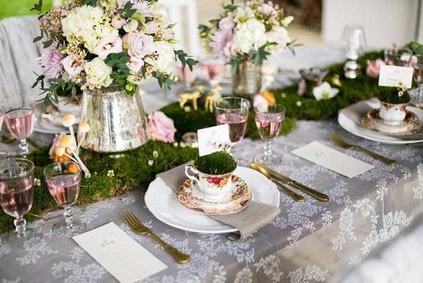 Whimsical Woodland Wedding Table Decor | Credit: Anneli Marinovich (10)