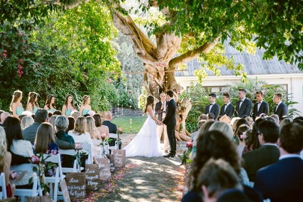 Wedding Ceremony at Jex Estate | Credit: Lad & Lass
