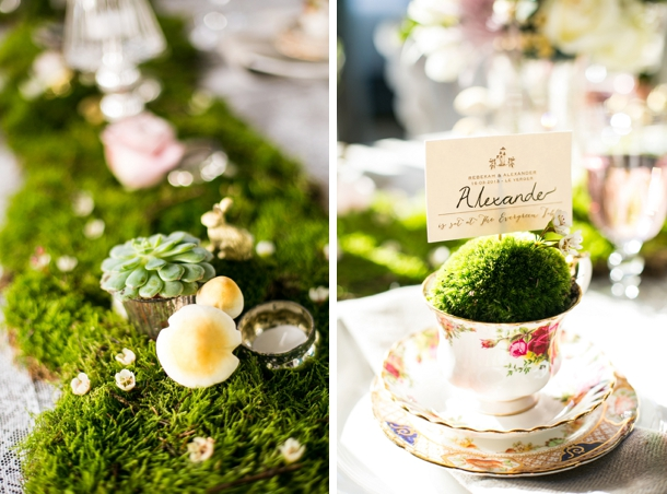 How to use moss in wedding table decor | Credit: Anneli Marinovich (9)