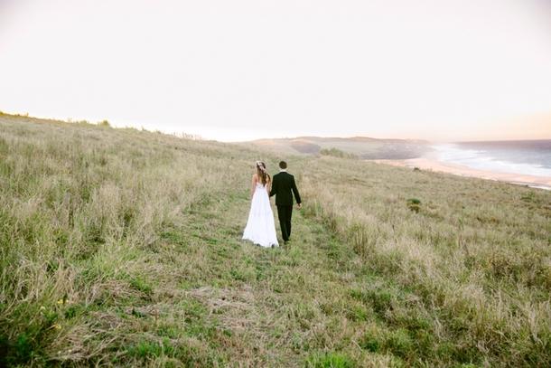 Oceanside Garden Wedding at Jex Estate | Credit: Lad & Lass