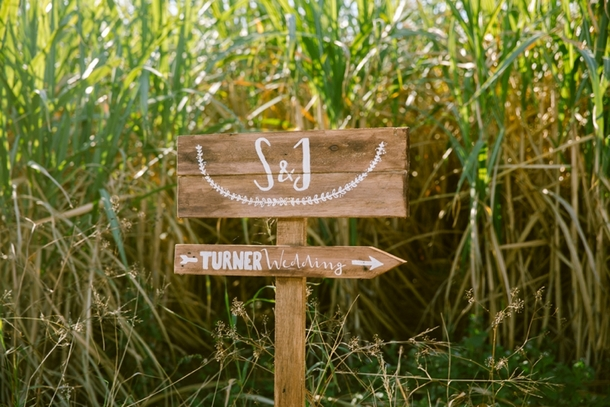 Wooden Direction Sign | Credit: Lad & Lass