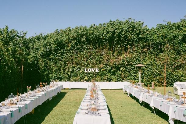Garden Wedding Reception at Jex Estate | Credit: Lad & Lass