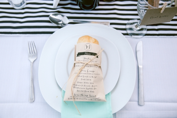 Place Setting with Bread Roll | Credit: Lad & Lass