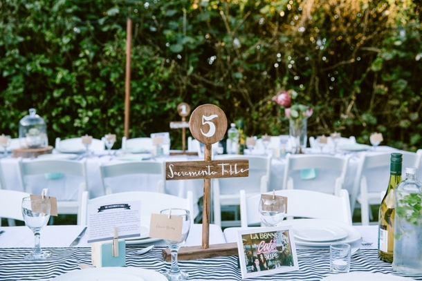 Wood Table Numbers | Credit: Lad & Lass