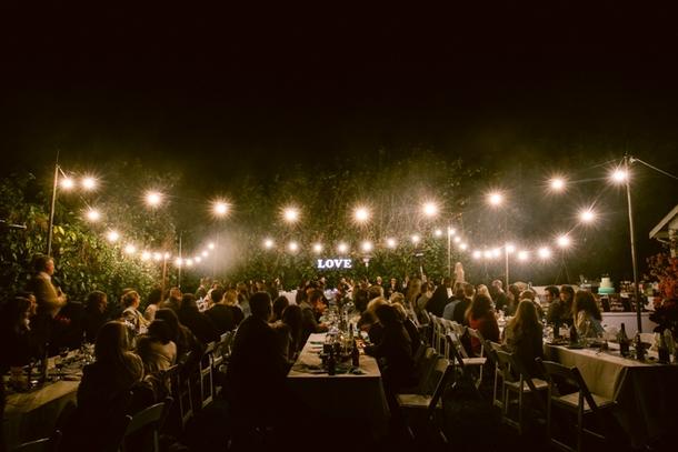 Outdoor Garden Wedding Reception | Credit: Lad & Lass