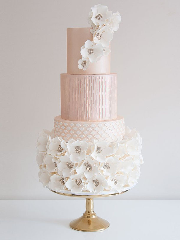 20 Pink Wedding Cakes SouthBound Bride