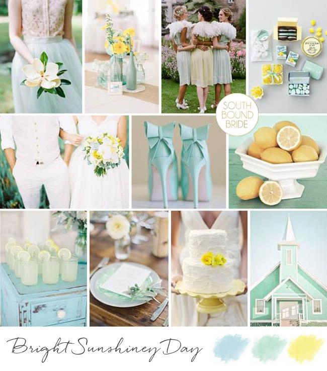 Aqua and Yellow Summer Wedding Inspiration