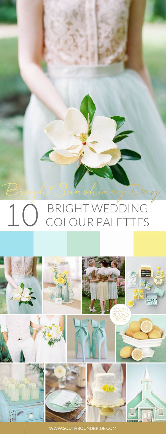 Bright Sunshiney Day Colorful Wedding Palette | SouthBound Bride