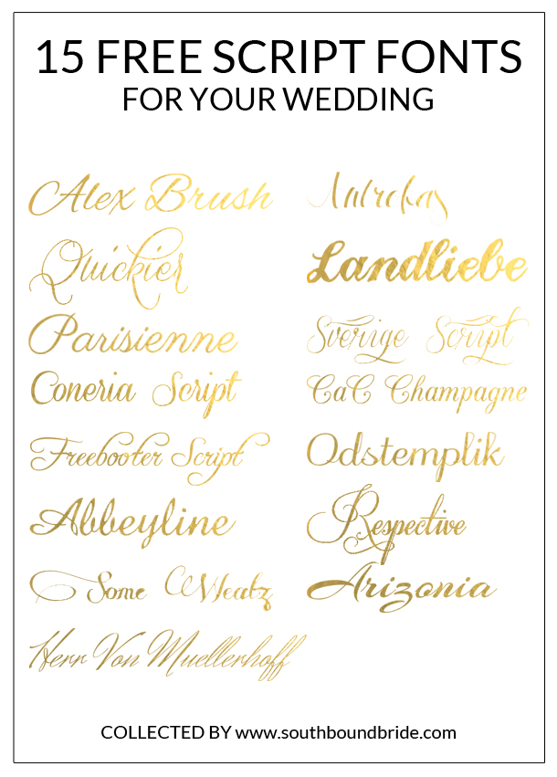 15 Free Script Fonts For Your Wedding