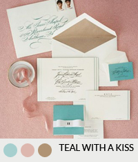 Pink Wedding Color Palettes Teal Rose Gold Southbound Bride