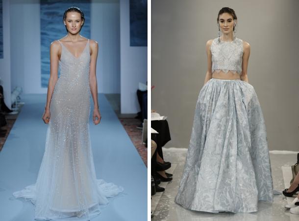 Wedding Trend: Blue & Silver Wedding Dresses