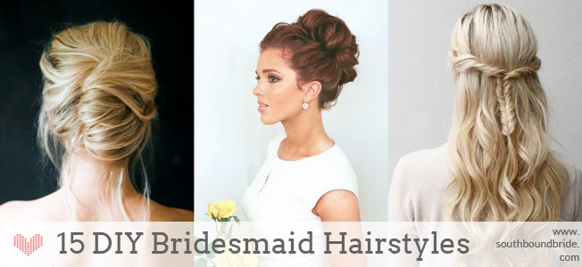Surprising 15 Diy Bridesmaid Wedding Hair Tutorials Southbound Bride Hairstyles For Women Draintrainus