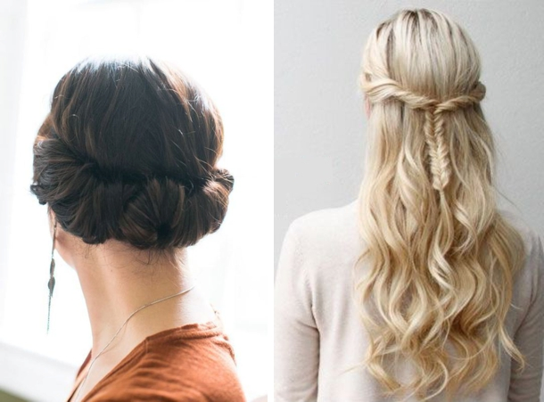 Image Bridesmaid Hairstyles Half Up Down Simple Hairstyle Ideas Of 17 Best Images