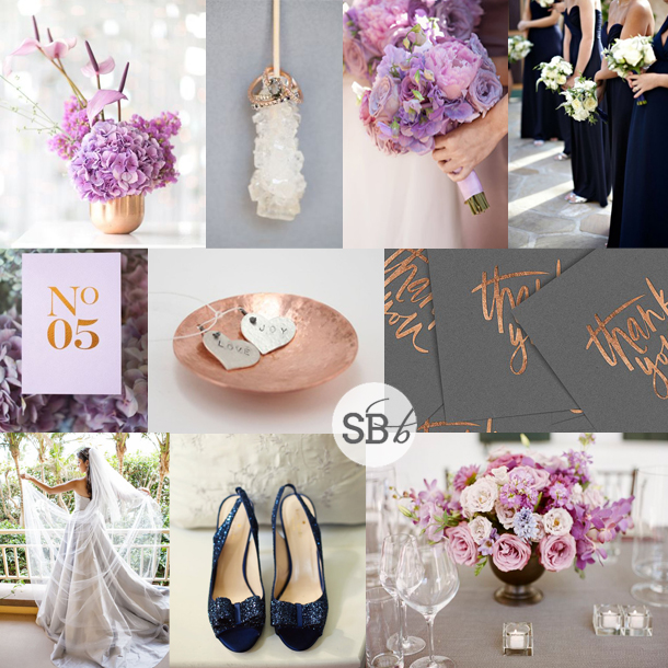 Inspiration Board Copper Orchid Navy