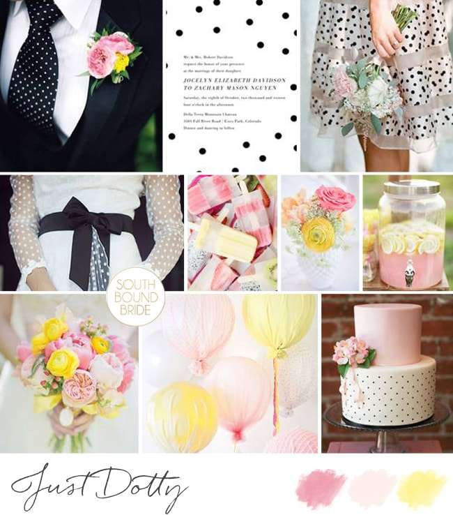 Just Dotty Wedding Inspiration Board | SouthBound Bride