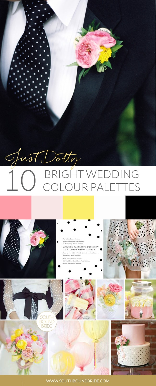 Just Dotty Colorful Summer Wedding Palette | SouthBound Bride