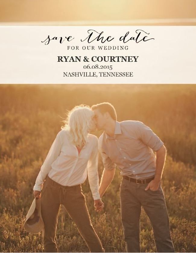 Free Customizable Save The Date Templates