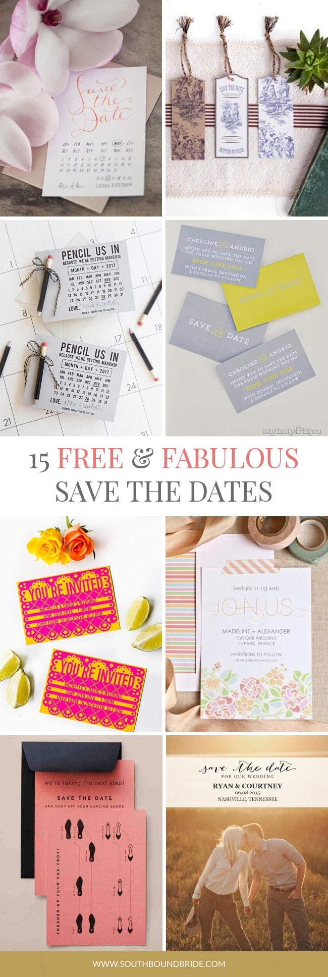 picture regarding Free Printable Save the Date known as 15 Totally free Printable Help save the Dates SouthBound Bride