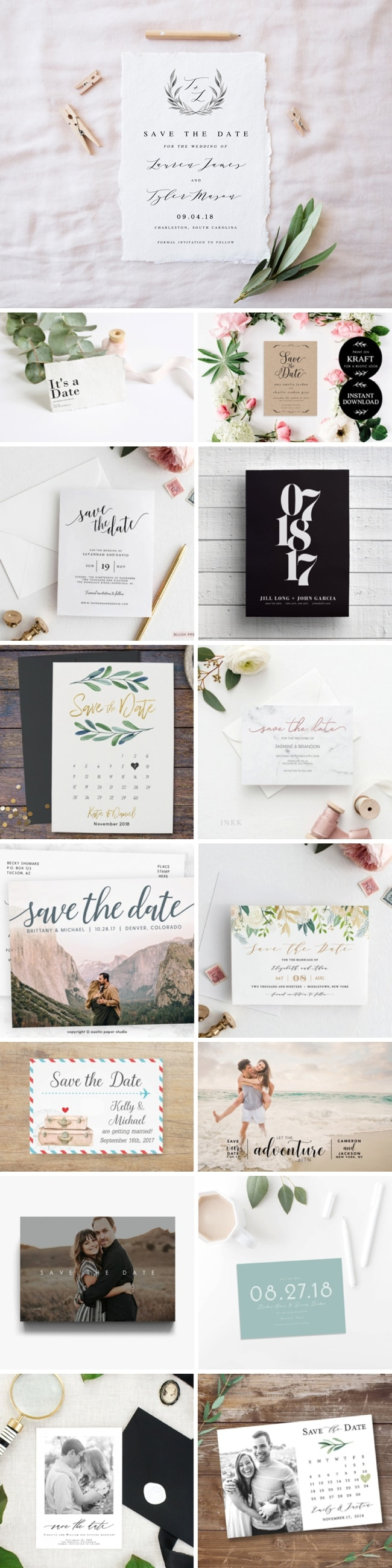 Printable Wedding Save the Dates