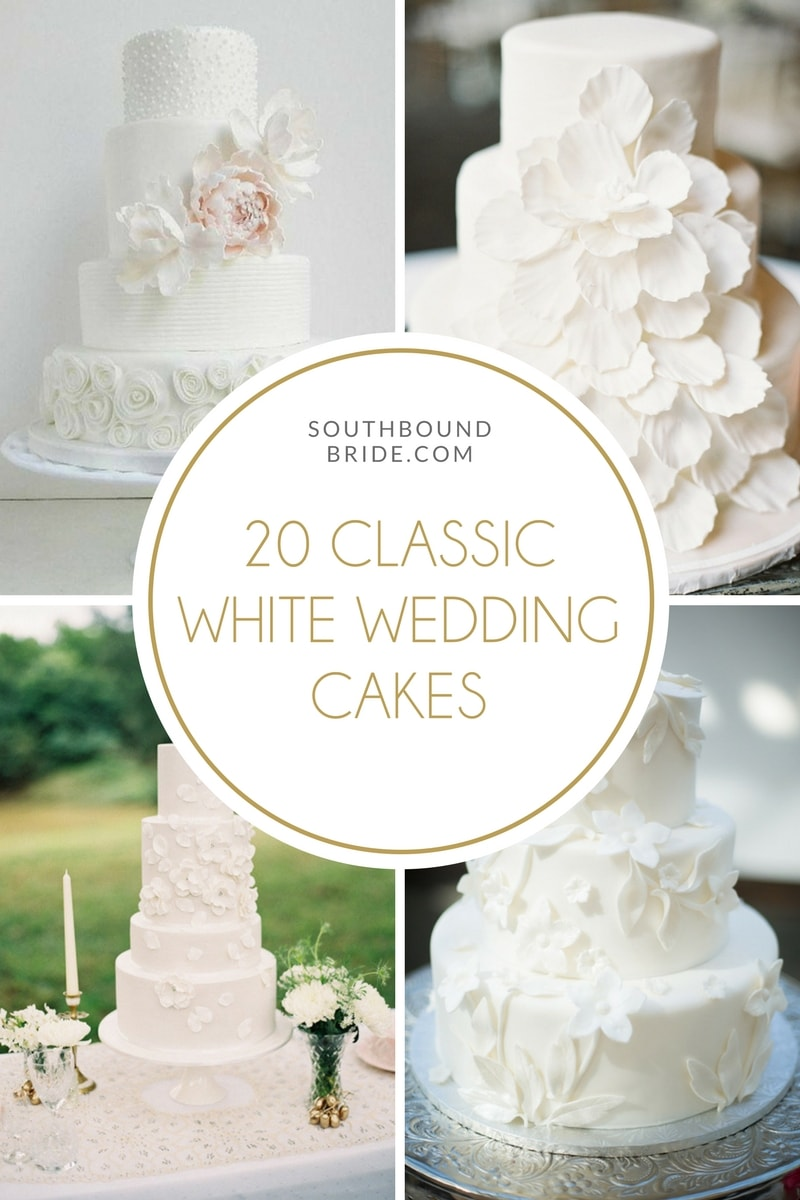 20 White on White Wedding Cakes | SouthBound Bride