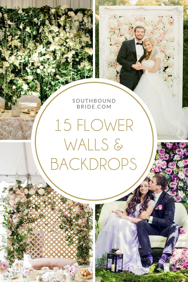 Wedding Flower Walls & Backdrops | SouthBound Bride
