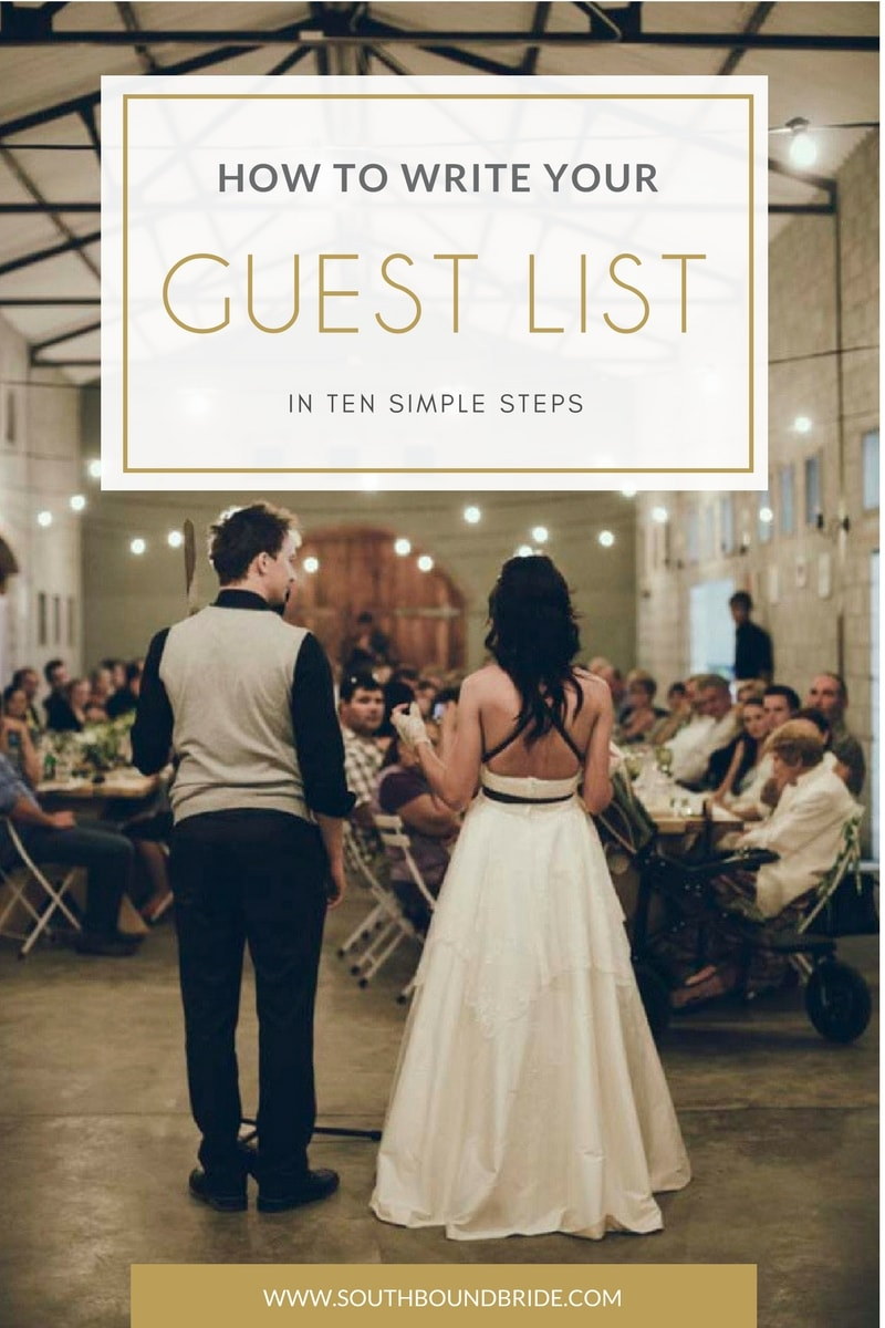 How to Write a Wedding Guest List in 10 Steps | SouthBound Bride