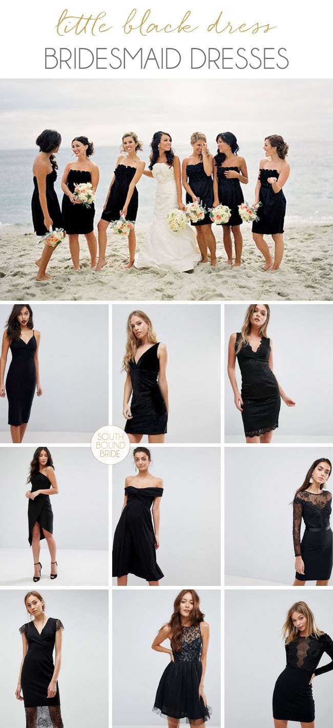 Short Black Bridesmaid Dresses | SouthBound Bride