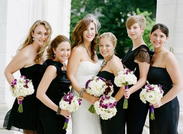 Short Black Bridesmaid Dresses Stylish
